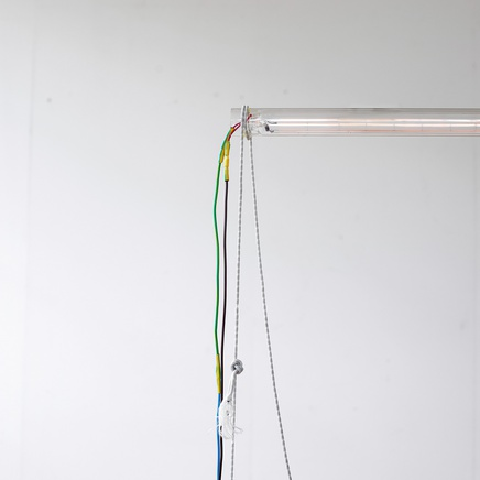 Untitled, 2016 Glass, metal, cable, wire (Detail)